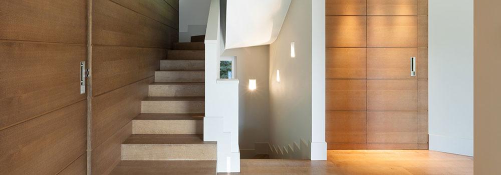 treppen mit parkett trittstufen aus holz. Black Bedroom Furniture Sets. Home Design Ideas