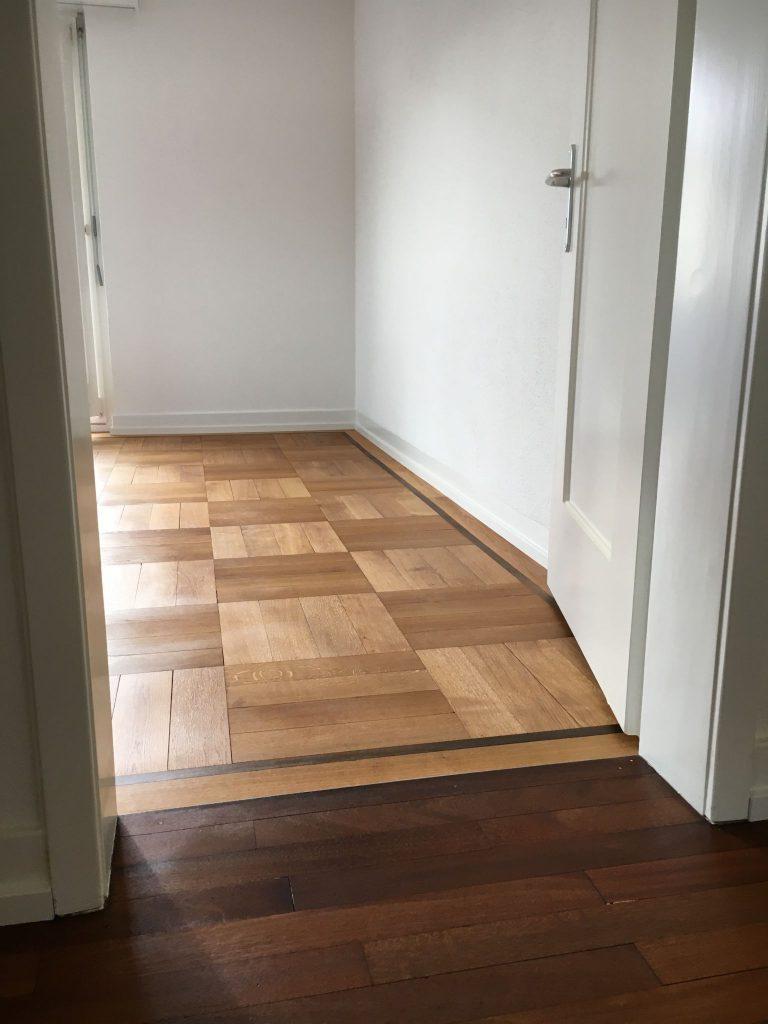parkett schutzmatte kche affordable holzboden kuche abergang ka che wohnzimmer mit lindura with. Black Bedroom Furniture Sets. Home Design Ideas